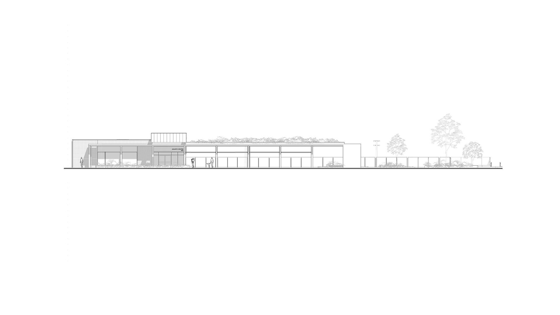 Griffith University Aquatic Centre Elevation