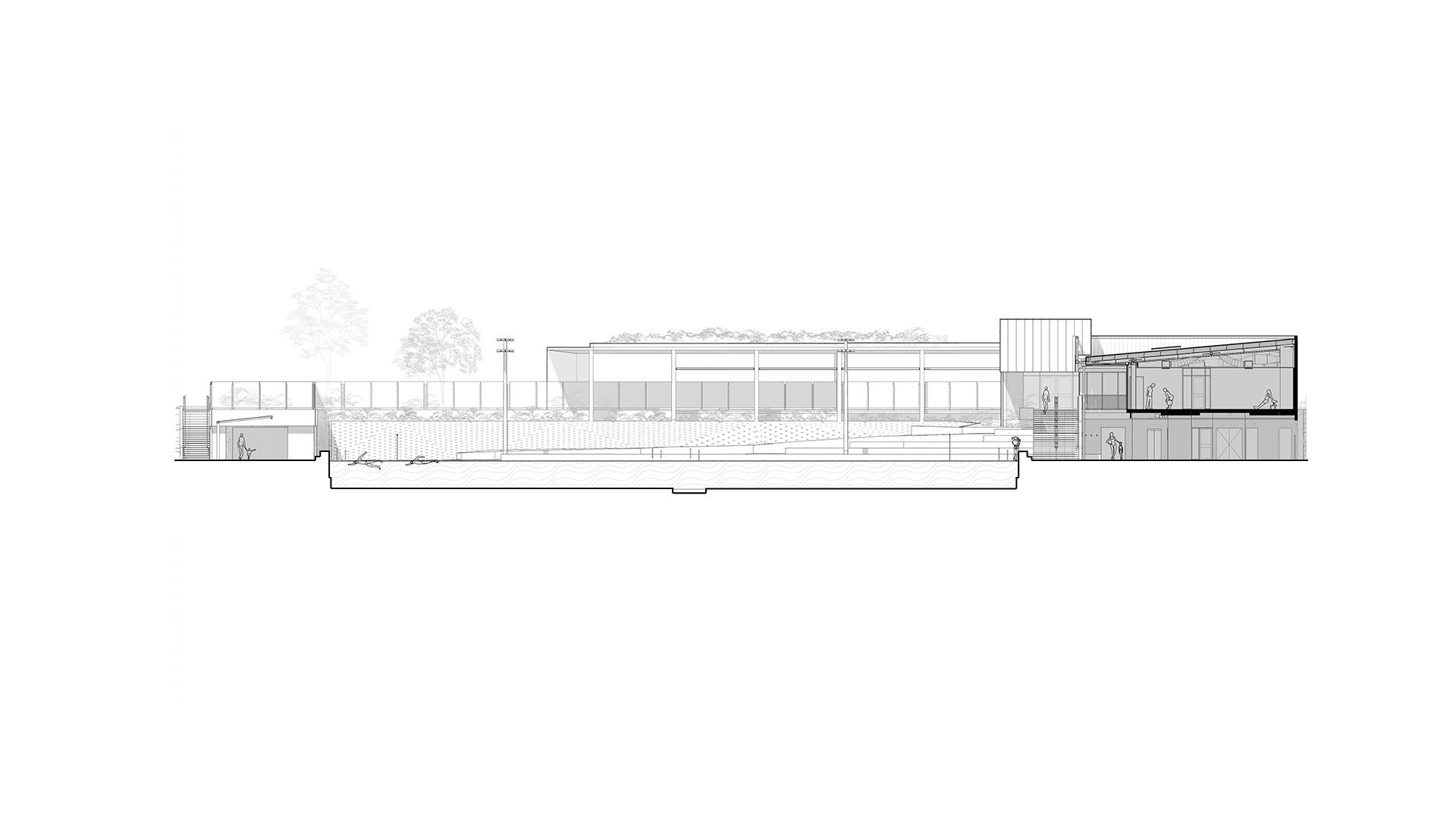 Griffith University Aquatic Centre Section