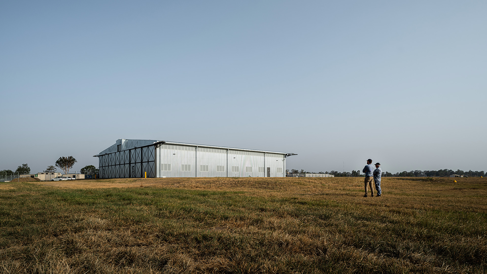 Bellman Hangar and landscape