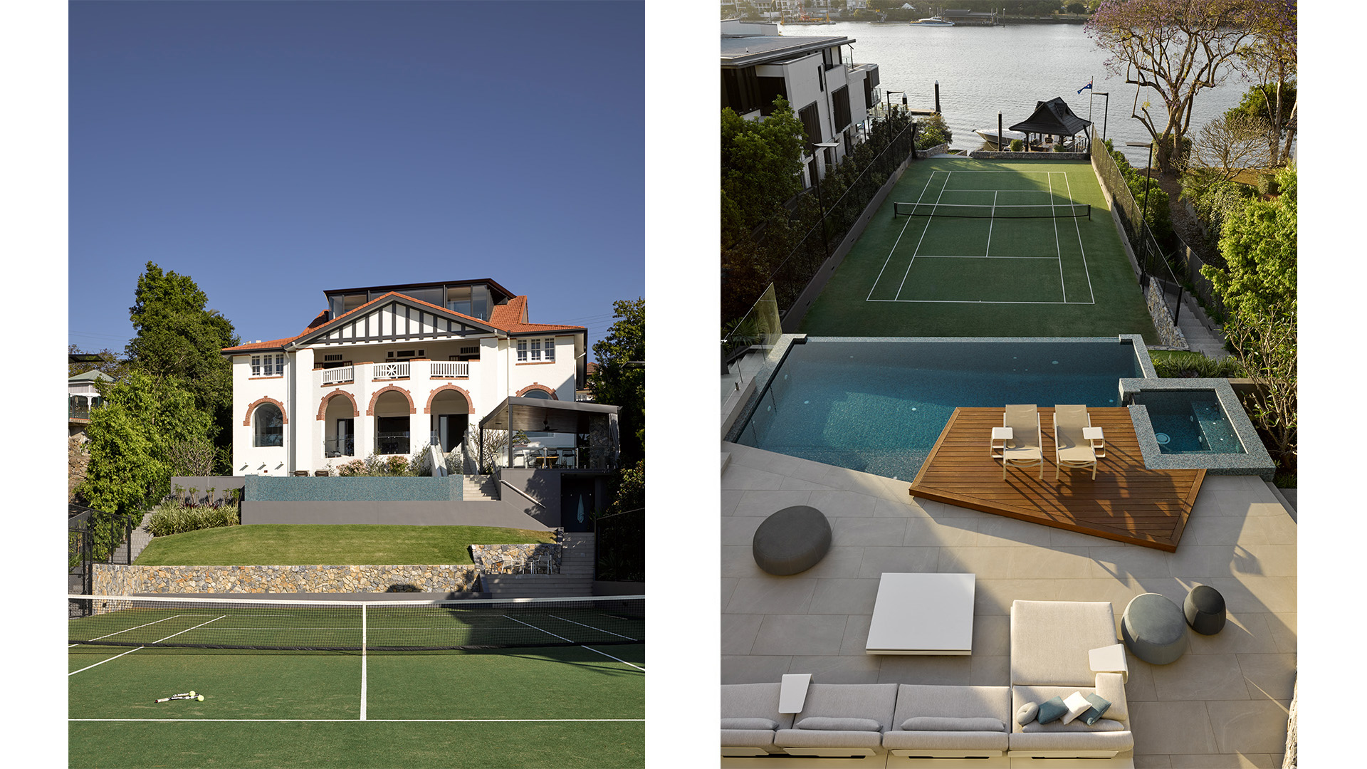 Maritimo tennis court and pool