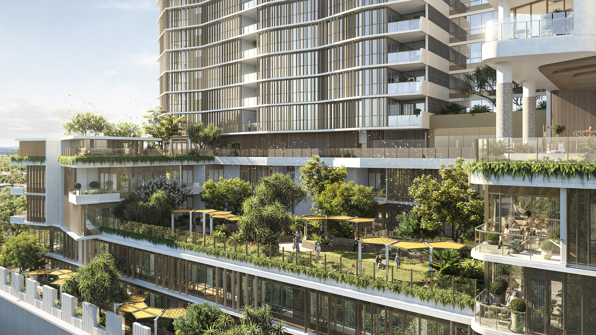 Queen Street Village Aged Care Facility Podium