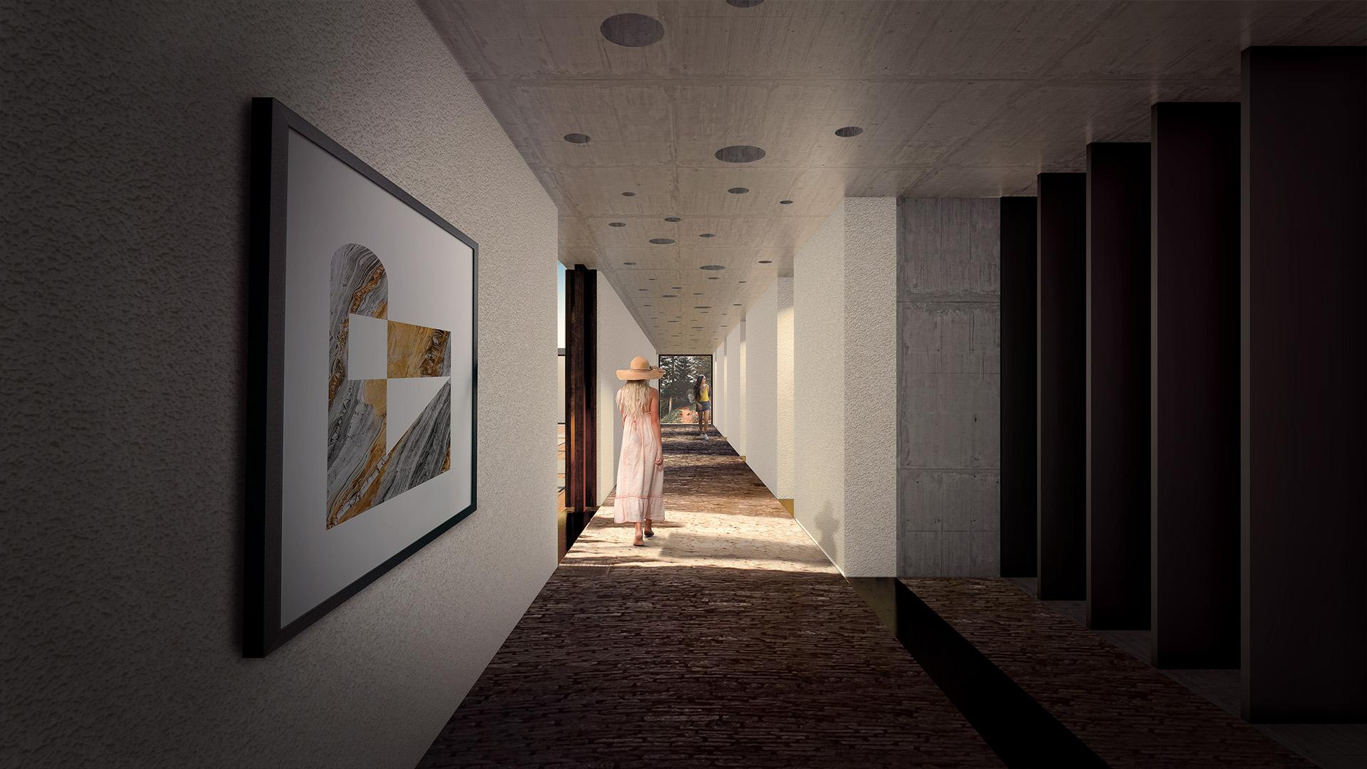Yoga Cliff House Corridor