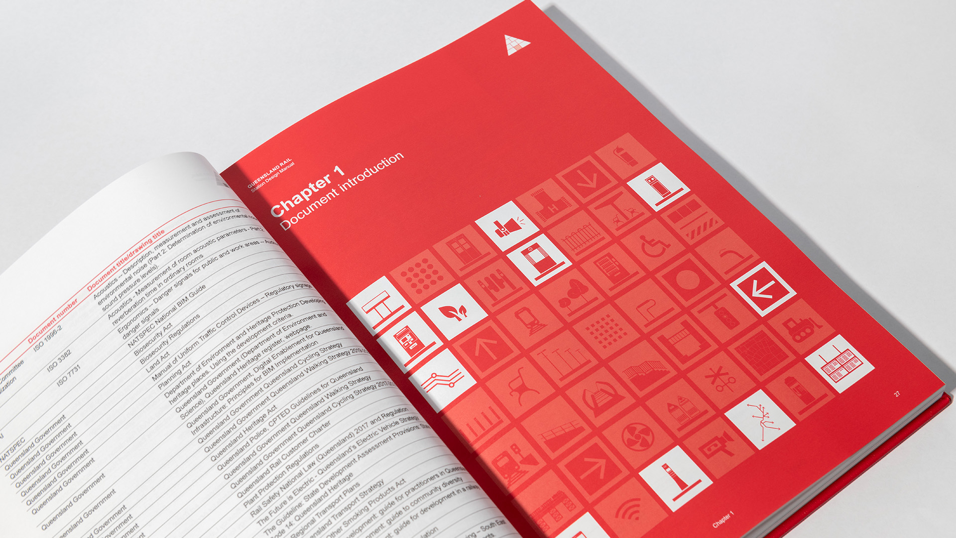 Queensland Rail Station Design Manual divider page detail
